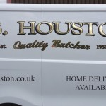 For the local butcher in Dumfries, A business card on wheels