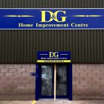 Outdoor signage for Dumfries Timber Group