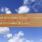 Timber directional finger on fingerpost, with routed text