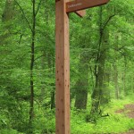 Timber Fingerpost for Dalbeattie Forest, with 3 directional fingers