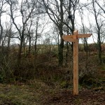 One of the 26 timber Fingerpost for Dalbeattie Forest