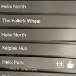 Metal directional fingers for fingerpost in production - Helix Park Falkirk (Kelpies)