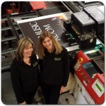 Agfa Annapurna Large format printer for Digital printing (and 2 happy members of staff)