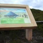 Timber lectern with framed Multiguard® interpretive panel