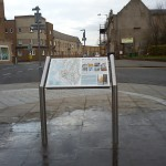 Stainless steel lectern with Multiguard® interpretive panel - Bo'ness