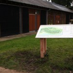 lectern with routed legs and Multiguard® interpretive panels