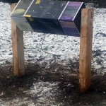 Timber Lectern with rotating Multiguard® interpretive panels for Dark Skies project