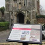 Colchester & Ipswich Museum - Powder coated steel lectern with Multiguard® interpretive panel