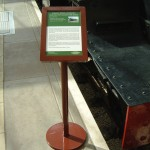 Small freestanding lectern