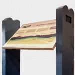 Multiguard® interpretive panel in design lectern for Great Glen Way - Highlands