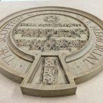 Routed timber memorial plaque - work in progress