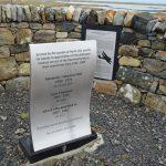 bespoke design memorial plaque in stainless steel - North Uist