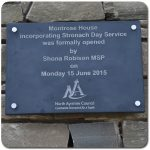 Engraved plaque in Welsh Slate for North Ayrshire Council