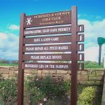 Timber Information board Dumfries & County Golf Club