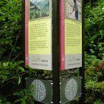 Upright information board