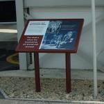 Steel lectern with Multiguard® interpretive panel