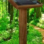 Oak lectern with A3 Multiguard® panel