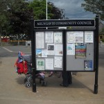 Milngavie Community Council - Steel upright with double glazed case and headerboard
