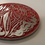 Zinc etched plaque